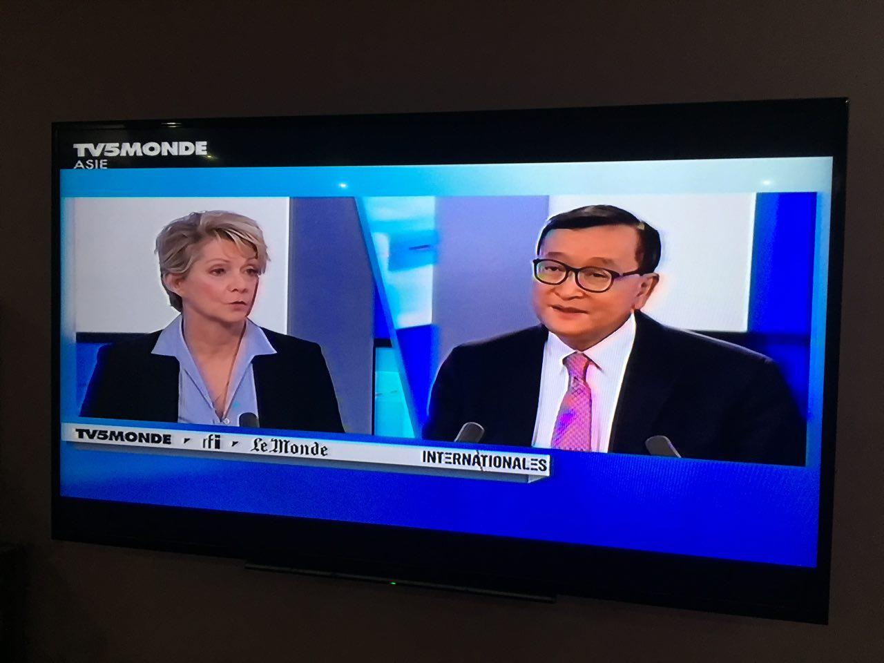 The Reader's letter: French Television unmasked Sam Rainsy's real face
