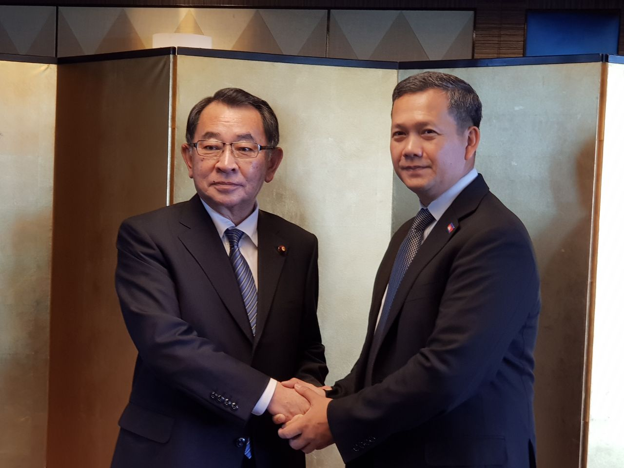 លោក ហ៊ុន ម៉ាណែត ជួបសំណេះសំណាលជាមួយក្រុមសមាជិកសភាមិត្តភាពជប៉ុន-មេគង្គ (J-Mekong Parliamentary Friendship Group)