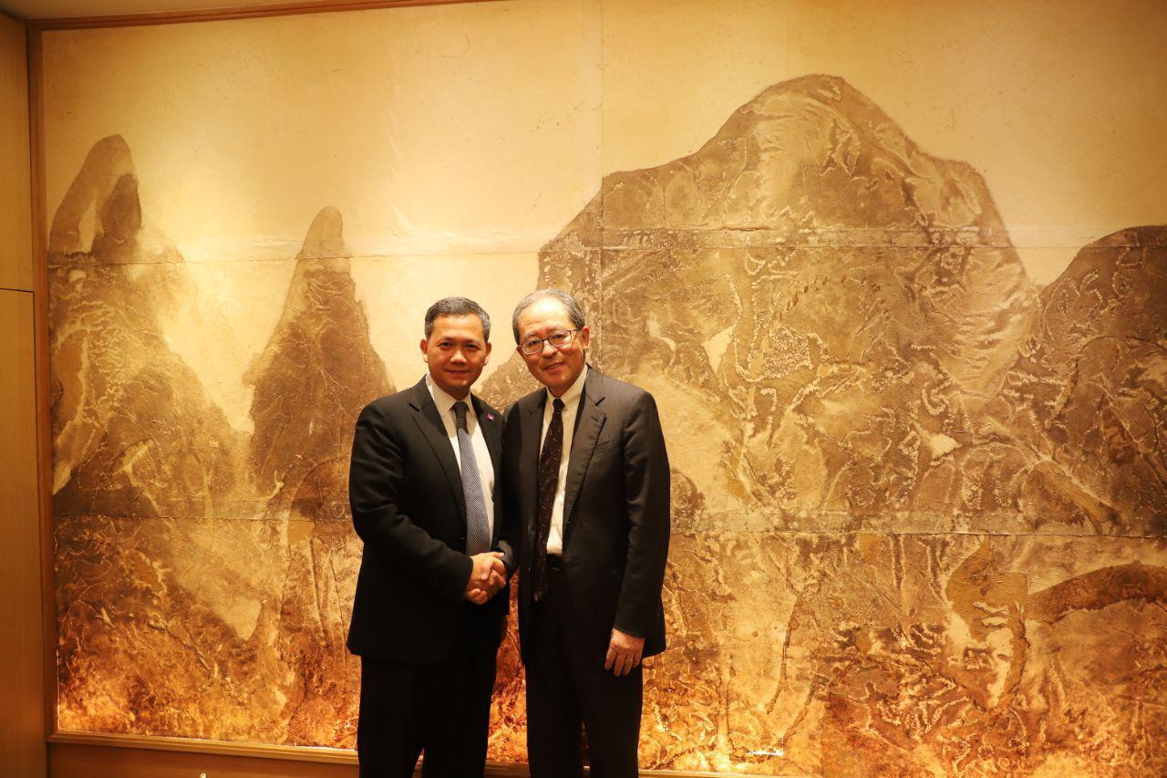 Hun Manet Meets Former Japanese Ambassador to Cambodia