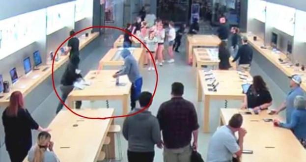 គួរឲ្យភ្ញាក់ផ្អើល! ក្មេងជំទង់មួយក្រុមចូលប្លន់ក្នុងហាង Apple Store (មានវីដេអូ)