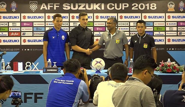 គ្រូបង្វឹកកម្ពុជា និងឡាវ រំពឹងថាកូនក្រុមធ្វើបានល្អដូចៗគ្នា សម្រាប់ការប្រកួត AFF Suzuki Cup 2018 នាល្ងាចនេះ