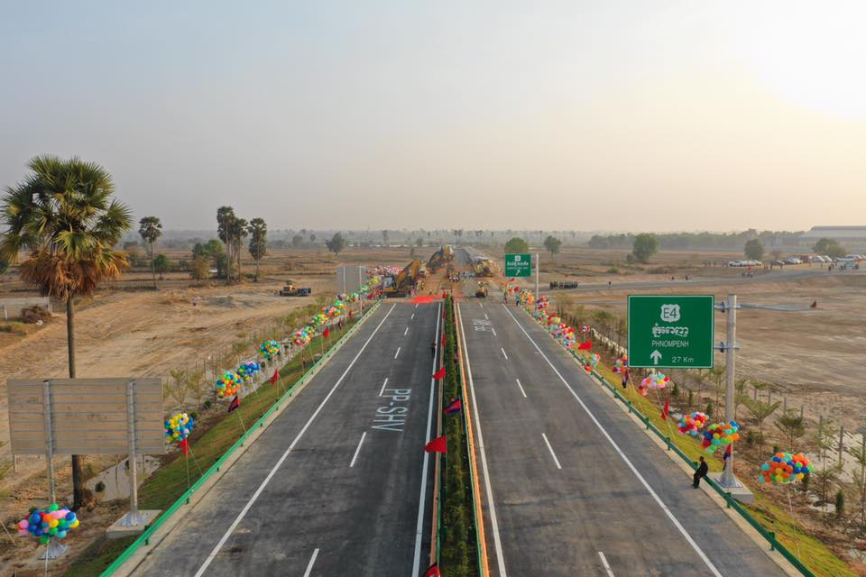 ផ្លូវល្បឿនលឿន (Expressway ) ភ្នំពេញ-ព្រះសីហនុ សម្រេចការសាងសង់បានជាង 20% ហើយ